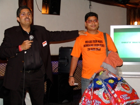 Arun Rajagopal with PK Gulati at Dubai Twestival