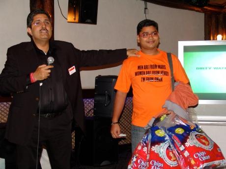 Arun Rajagopal with PK Gulati at Dubai Twestival