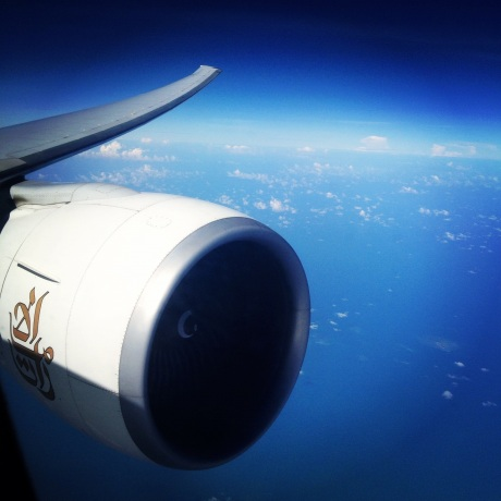 Love the wing flex of the Boeing 777. Look at that mighty engine.