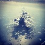 Mutant Ninja Turtle cloud just before landing.