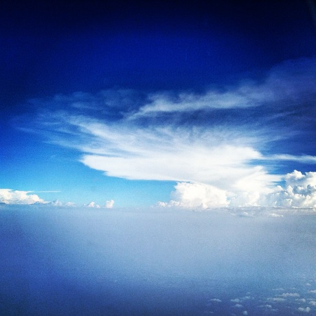 A unique perspective to the Universe from my window seat.