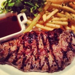 That perfect steak. So good for the foodie soul.