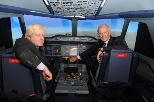 Tim Clark and Boris Johnson Emirates Aviation Experience Image 1